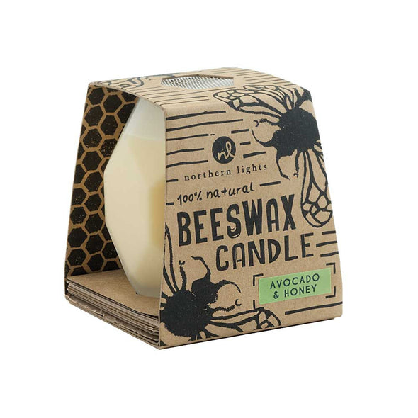 Northern Lights Candles / Bee Hive - Avocado & Honey