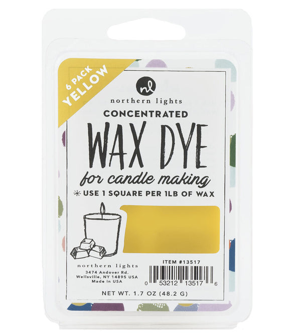 Concentrated Dye Squares 6pk - Yellow