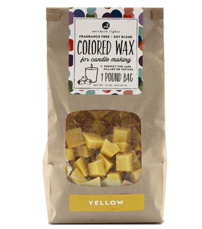 Unfragranced Wax Chips 1lb Bag - Yellow