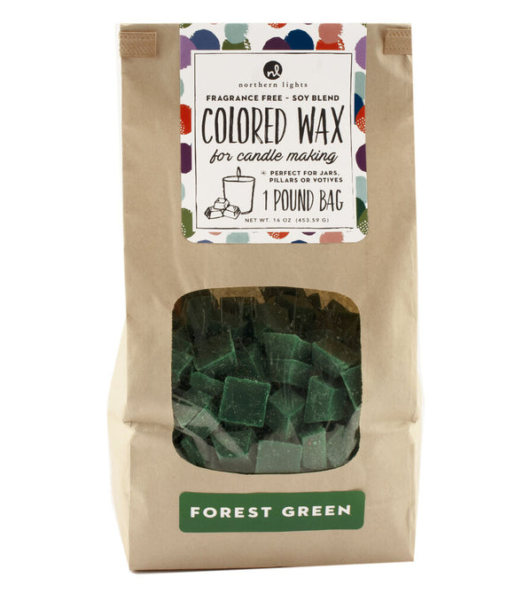 Unfragranced Wax Chips 1lb Bag - Forest Green
