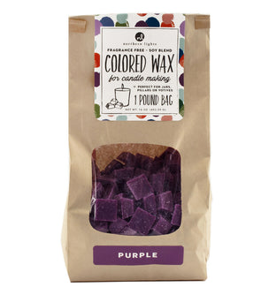 Unfragranced Wax Chips 1lb Bag - Purple