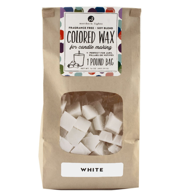 Unfragranced Wax Chips 1lb Bag - White