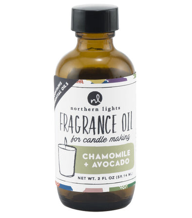 Fragrance Oil 2oz Glass Bottle - Chamomile & Avocado