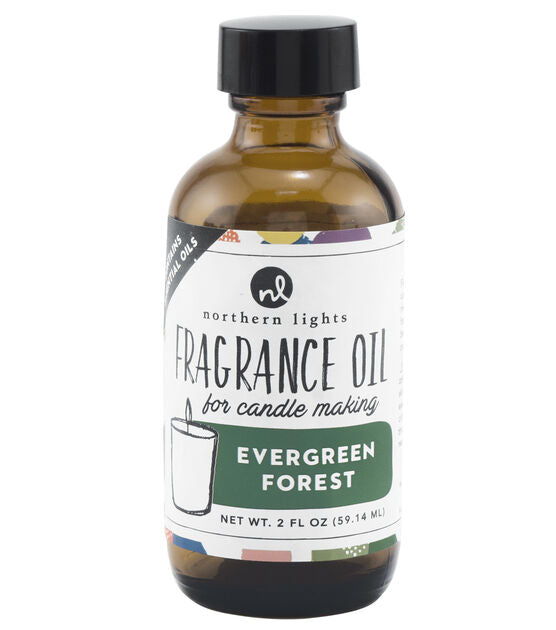 Fragrance Oil 2oz Glass Bottle - Evergreen Forest