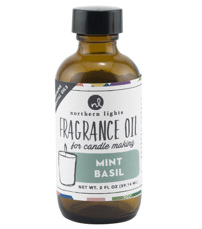 Fragrance Oil 2oz Glass Bottle - Mint Basil