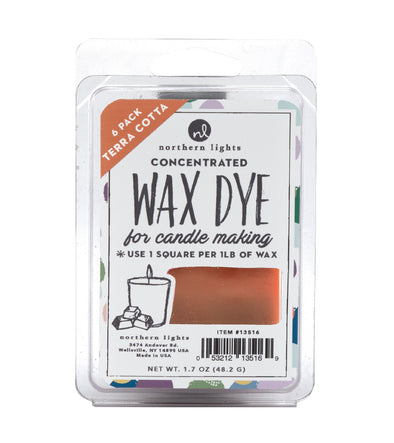 Concentrated Dye Squares 6pk - Terra Cotta