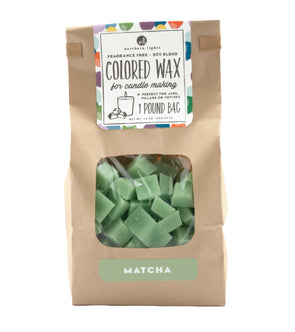Unfragranced Wax Chips 1lb Bag - Matcha