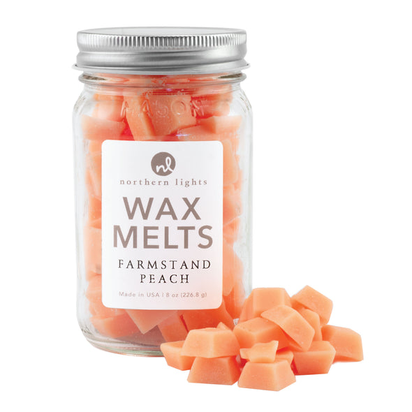 Northern Lights Candles / Mason Melts - Farmstand Peach
