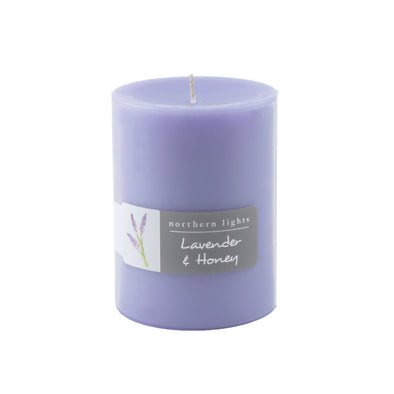 3x4 Pillar - Lavender & Honey - Northern Lights Candles