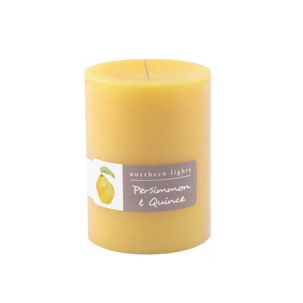 Northern Lights Candles / 3x4 Pillar - Persimmon & Quince