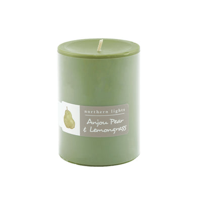 Northern Lights Candles / 3x4 Pillar - Anjou Pear & Lemongrass