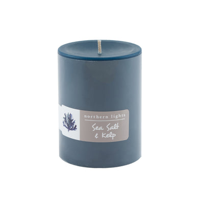 Northern Lights Candles / 3x4 Pillar - Sea Salt & Kelp