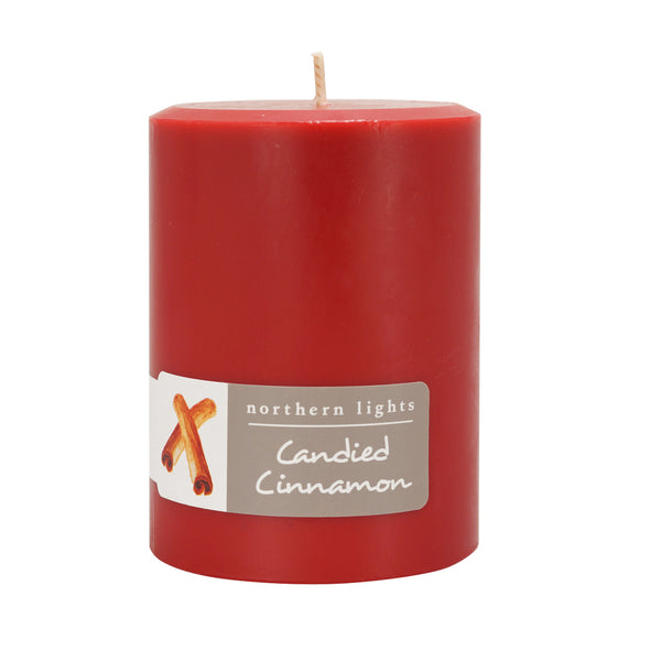 Northern Lights Candles / 3x4 Pillar - Candied Cinnamon