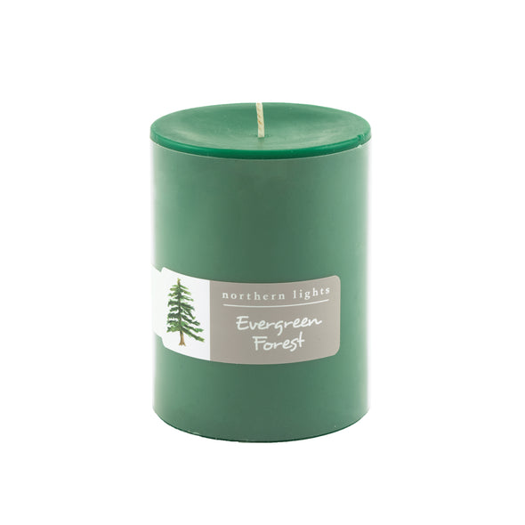 Northern Lights Candles / 3x4 Pillar - Evergreen Forest