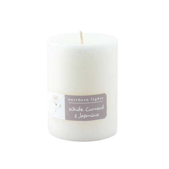 Northern Lights Candles / 3x4 Pillar - White Currant & Jasmine