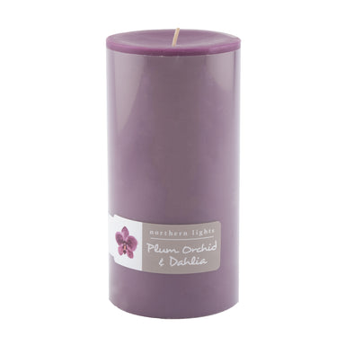 3x6 Pillar - Plum Orchid & Dahlia - Northern Lights Candles