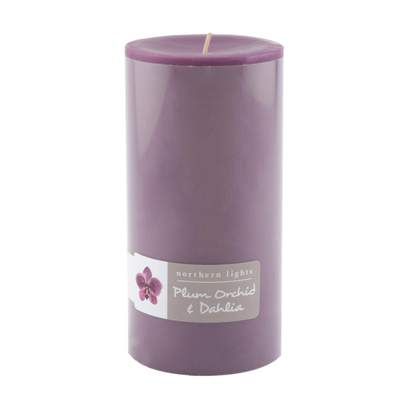 Northern Lights Candles / 3x6 Pillar - Plum Orchid & Dahlia