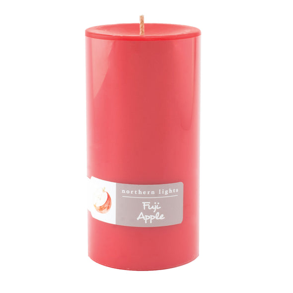 Northern Lights Candles / 3x6 Pillar - Fuji Apple