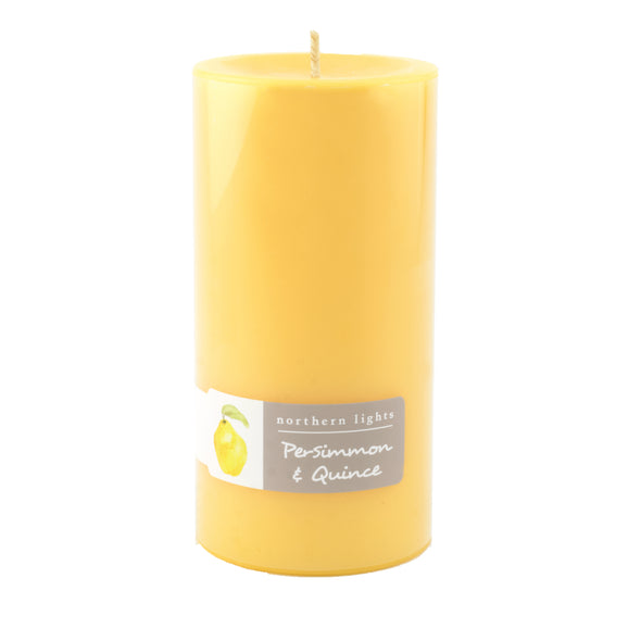 Northern Lights Candles / 3x6 Pillar - Persimmon & Quince