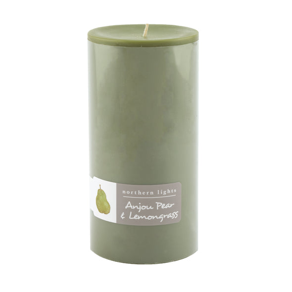Northern Lights Candles / 3x6 Pillar - Anjou Pear & Lemongrass