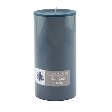 Northern Lights Candles / 3x6 Pillar - Sea Salt & Kelp