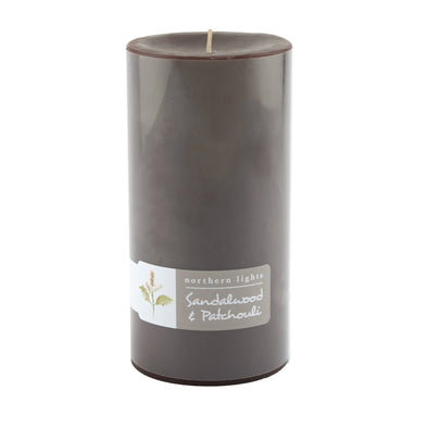 3x6 Pillar - Sandalwood & Patchouli - Northern Lights Candles