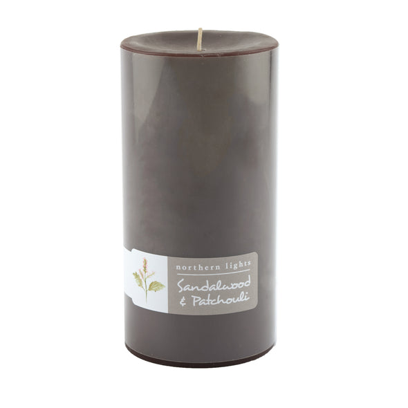 Northern Lights Candles / 3x6 Pillar - Sandalwood & Patchouli