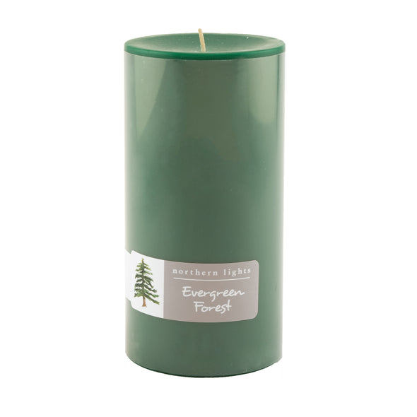 Northern Lights Candles / 3x6 Pillar - Evergreen Forest