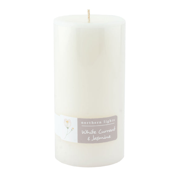 Northern Lights Candles / 3x6 Pillar - White Currant & Jasmine