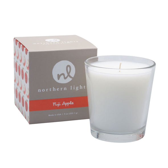 Northern Lights Candles / White Candle - Fuji Apple