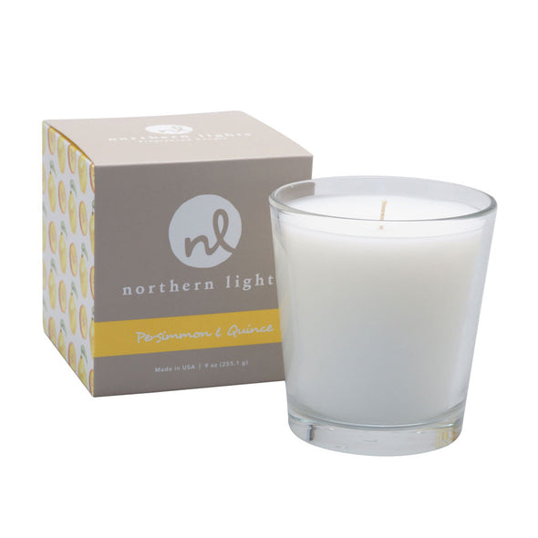 Northern Lights Candles / White Candle - Persimmon & Quince