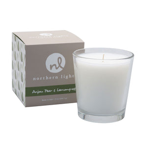 Northern Lights Candles / White Candle - Anjou Pear & Lemongrass