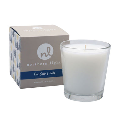 Northern Lights Candles / White Candle - Sea Salt & Kelp