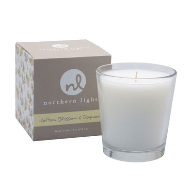 Northern Lights Candles / White Candle - Cotton Blossom & Dogwood