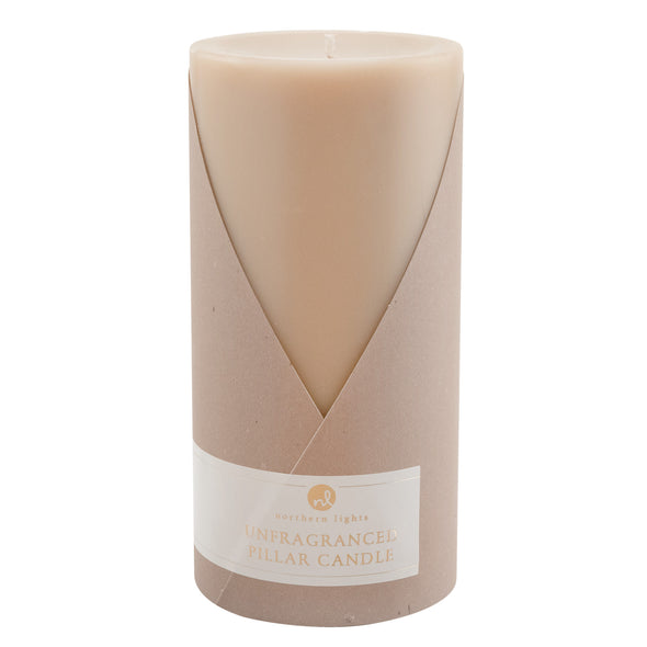 Northern Lights Candles / 3x6 Pillar - Tan