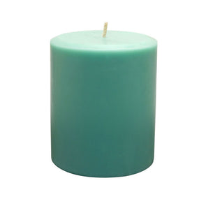Northern Lights Candles / 3x4 Pillar - Turquoise