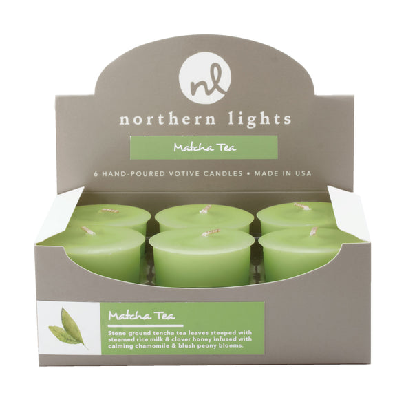 Northern Lights Candles / Votives - Matcha Tea