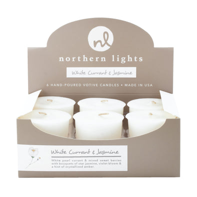 Northern Lights Candles / Votives - White Currant & Jasmine