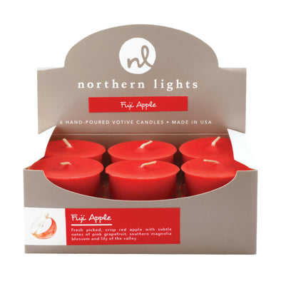 Northern Lights Candles / 2- Votives - Fuji Apple