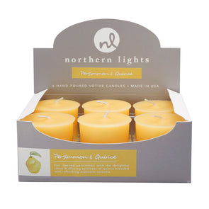 Northern Lights Candles / Votives - Persimmon & Quince