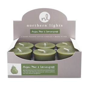 Votives - Anjou Pear & Lemongrass - Northern Lights Candles