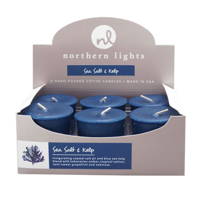 Northern Lights Candles / Votives - Sea Salt & Kelp