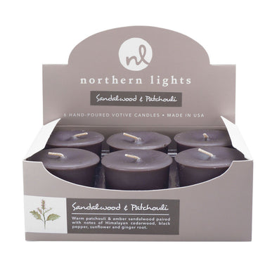 Votives - Sandalwood & Patchouli - Northern Lights Candles