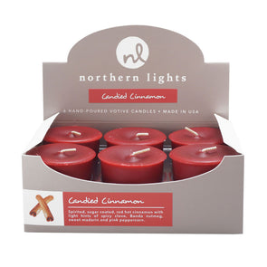 Northern Lights Candles / Votives - Candied Cinnamon