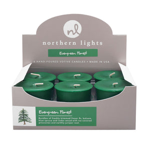 Northern Lights Candles / Votives - Evergreen Forest