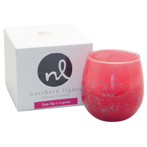 Northern Lights Candles / Artisan Candle - Rose Hip & Lychee