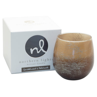 Northern Lights Candles / Artisan Candle - Sandalwood & Patchouli