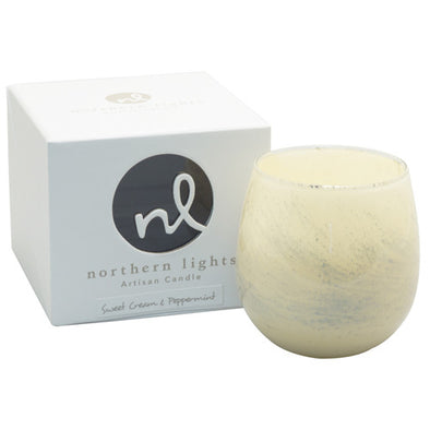 Northern Lights Candles / Artisan Candle - Sweet Cream & Peppermint
