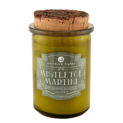 Northern Lights Candles / Holiday Spirit Jar - Mistletoe Martini