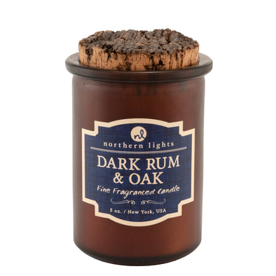 Northern Lights Candles / Spirit Jar - Dark Rum & Oak